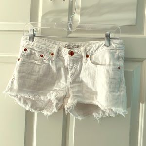 Big Star white jean shorts